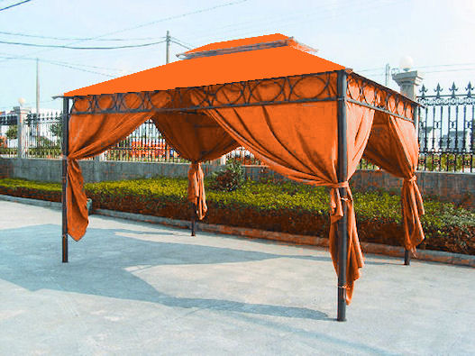 pavillon cape town 3x4 terracotta mit seitenteilen. Black Bedroom Furniture Sets. Home Design Ideas