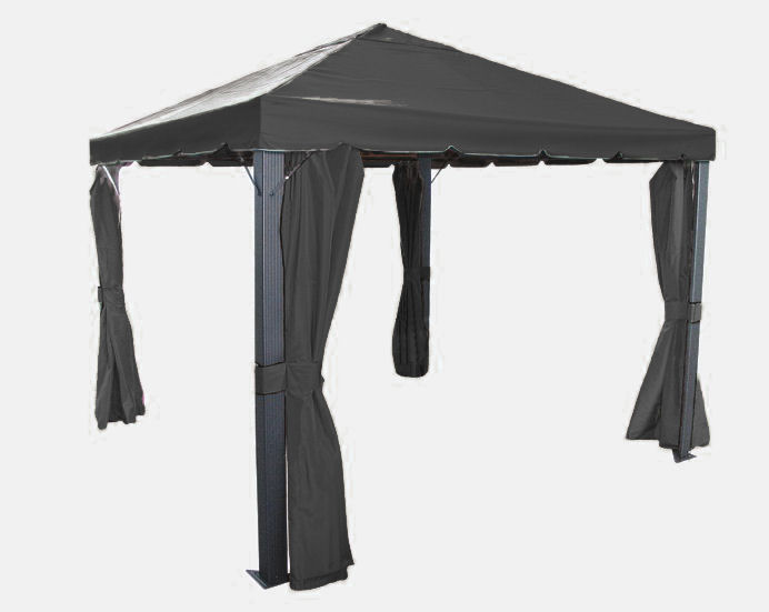 luxus triangel pavillon seitenteile 3x3 anthrazit black ebay. Black Bedroom Furniture Sets. Home Design Ideas