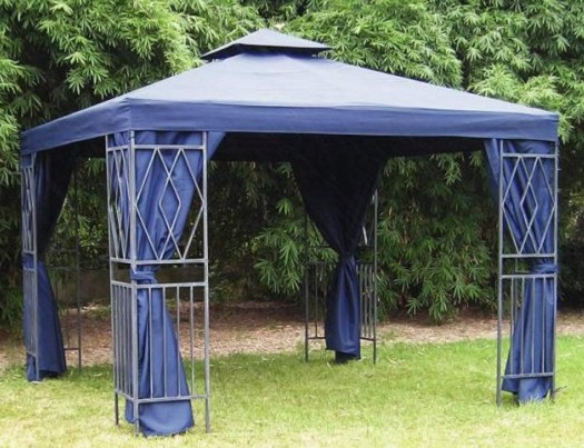 alu pavillon seitenteile 3x3 blau aluminium pavillion ebay. Black Bedroom Furniture Sets. Home Design Ideas
