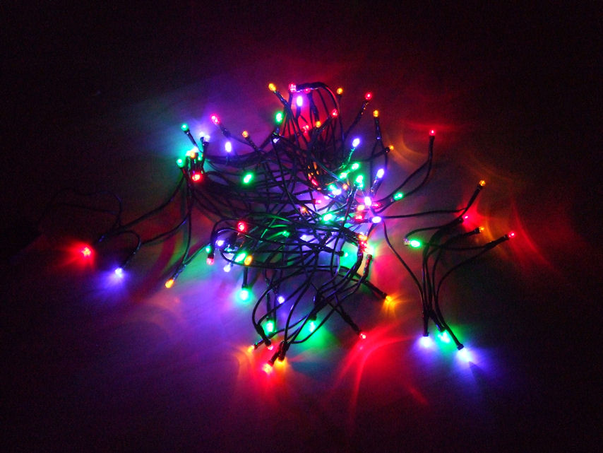 Led lichterkette mit 30 leds bunt mit batterie for Bilder mit lichterkette