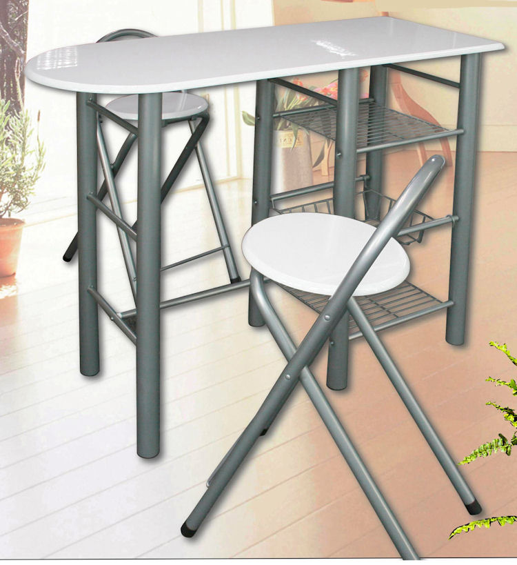 metall bartisch gruppe inkl 2 hocker barset barhocker stehtisch bistrotisch ebay. Black Bedroom Furniture Sets. Home Design Ideas