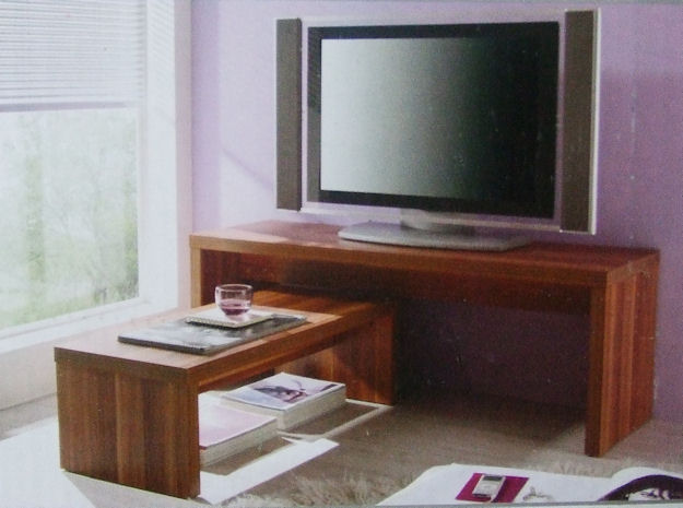 tv bank 2er nussbaum tv rack fernsehtisch tisch hifi ebay. Black Bedroom Furniture Sets. Home Design Ideas