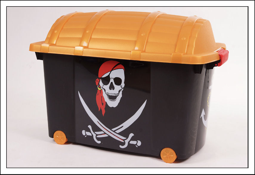 piratenbox 60 l mit deckel rollen spielzeugbox. Black Bedroom Furniture Sets. Home Design Ideas