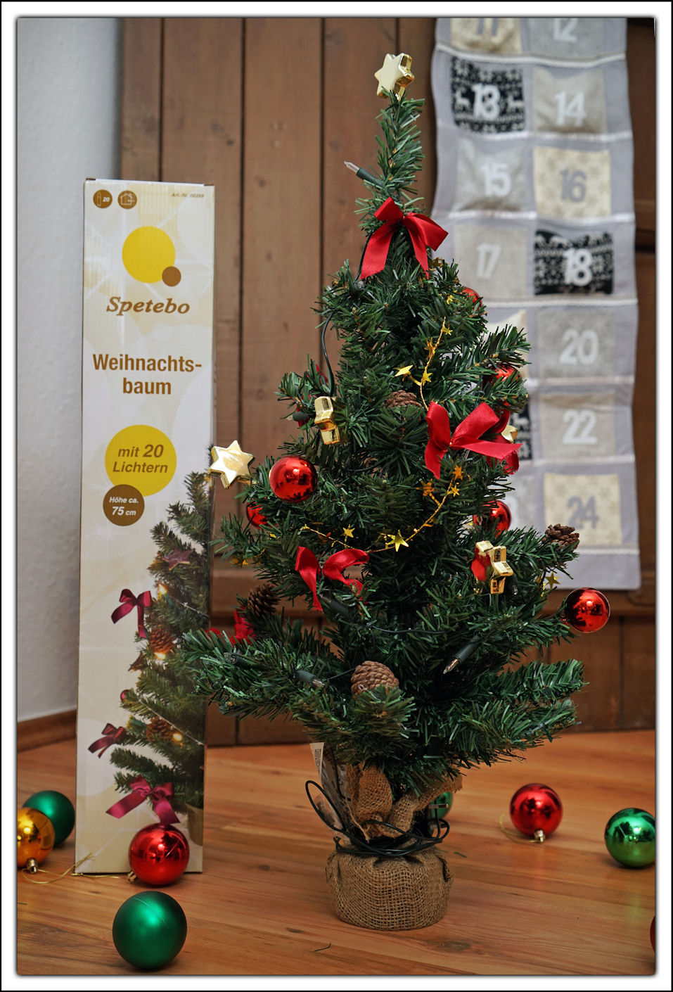 weihnachtsbaum geschm ckt 75 cm 20er lichterkette tannenbaum christbaum baum ebay. Black Bedroom Furniture Sets. Home Design Ideas