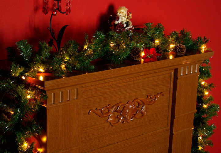 led tannengirlande mit 40 led lichterkette au en girlande weihnachtsgirlande. Black Bedroom Furniture Sets. Home Design Ideas