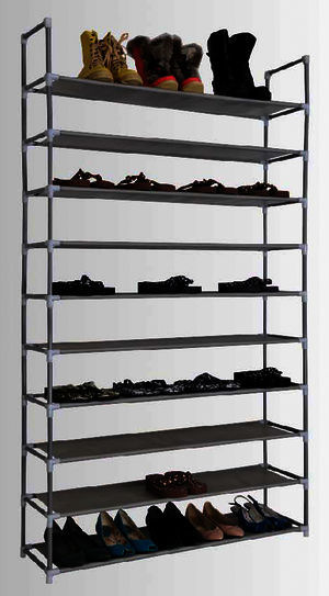 schuhregal xxl 50 paar schuhe schuhst nder schuhschrank. Black Bedroom Furniture Sets. Home Design Ideas